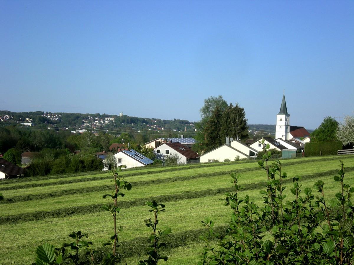 Blick von Postmünster nach Pfarrkirchen